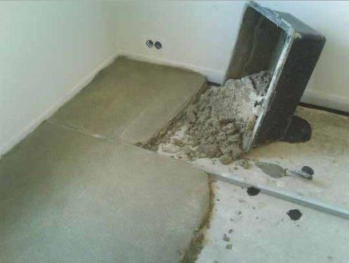 Как выровнять пол под плитку?
