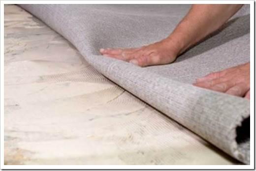 Как стелить ковролин своими руками на бетон?