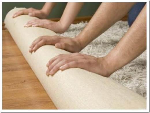 Как стелить ковролин своими руками на линолеум?