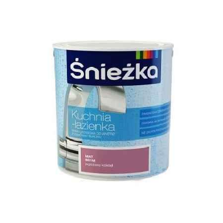 Купить Краска для стен и потолков с добавкой силикона Кухня-Ванная 0.9 л., прозрачная база С Sniezka (Снежка)