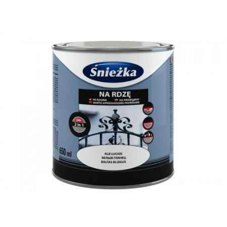 Купить Грунт-эмаль по ржавчине 3в1 полуматовая 0.65 л.,черный Sniezka (Снежка)