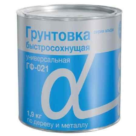 Купить Грунт ГФ-021 быстросохнущий Альфа 1.9 кг., серый Krafor (Крафор)