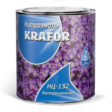 Купить Эмаль НЦ-132 0.7 кг., коричневая Krafor (Крафор)