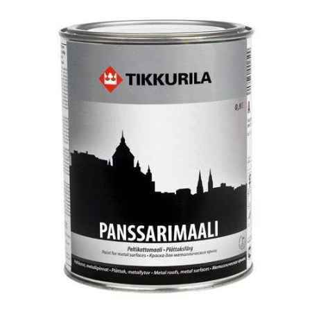 Купить Эмаль антикоррозионная для металла Panssarimaali (Панссаримаали), База С, полуглянцевая, 0.9 л. Tikkurila (Тиккурила)