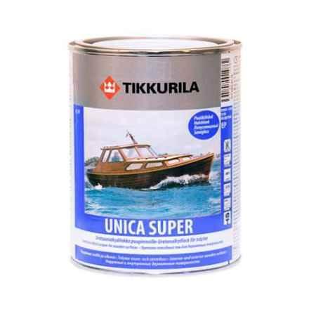Купить Лак глянцевый Unica super (Уника Супер), 0.9 л., синий Tikkurila (Тиккурила)