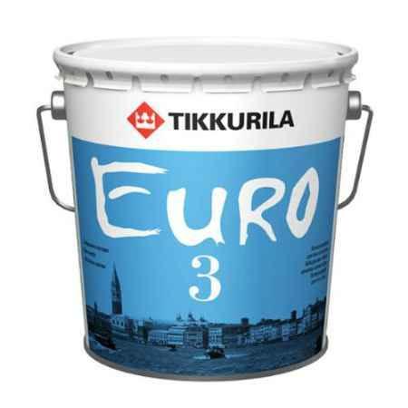 Купить Краска латексная Euro (Евро)-3, 9 л, белый Tikkurila (Тиккурила)