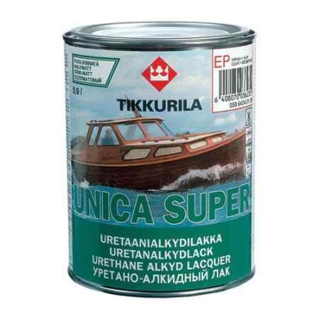 Купить Лак полуматовый Unica super (Уника Супер), 0.9 л., зеленый Tikkurila (Тиккурила)