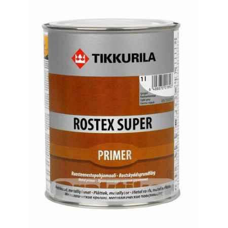 Купить Грунт антикоррозионный Rostex Super (Ростекс Супер), 1 л., светло-серый Tikkurila (Тиккурила)