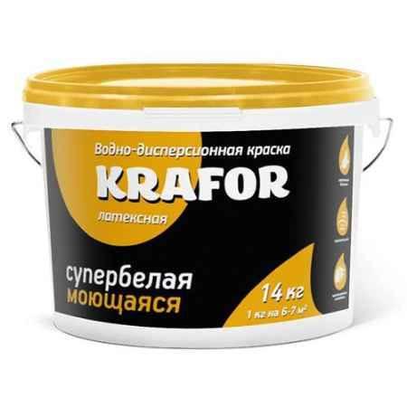 Купить Краска водно-дисперсионная латексная интерьерная моющая 6.5 кг., супербелая Krafor (Крафор)
