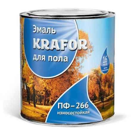 Купить Эмаль ПФ-266 0.9 кг., красно-коричневая Krafor (Крафор)