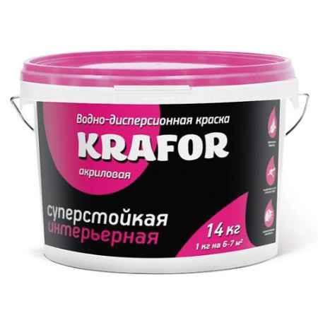 Купить Краска водно-дисперсионная интерьерная суперстойкая 3 кг. Krafor (Крафор)