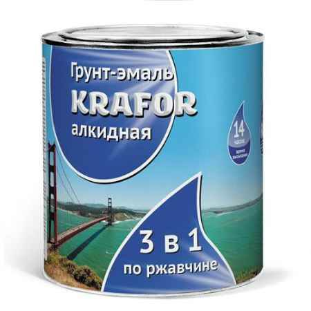 Купить Грунт-эмаль по ржавчине 1.9 кг., красно-коричневая Krafor (Крафор)