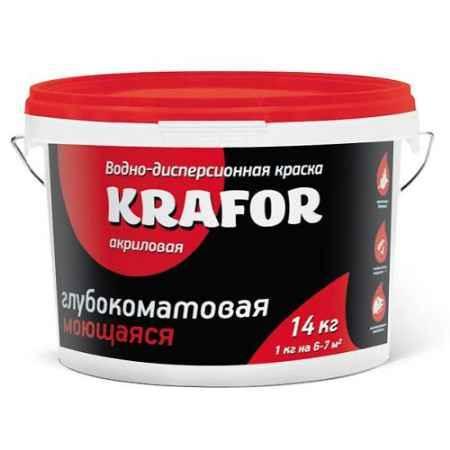 Купить Краска водно-дисперсионная интерьерная глубокоматовая моющая 1.5 кг. Krafor (Крафор)