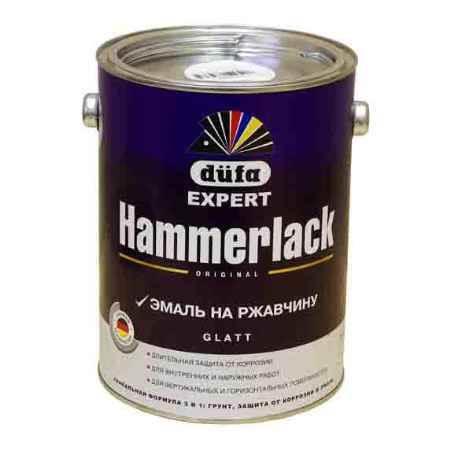 Купить Эмаль по ржавчине молотковая Hammerlack (Хаммерлак), 0.75 л., голубая Dufa (Дюфа)