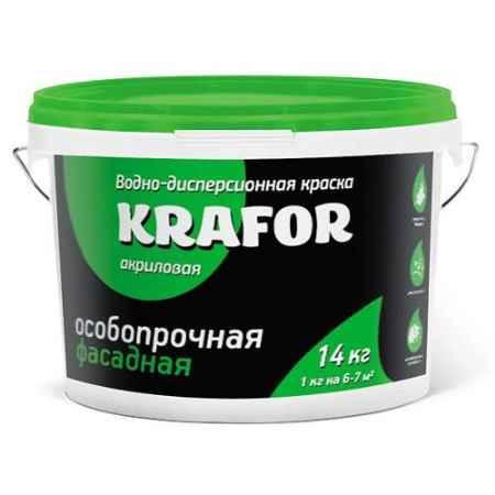 Купить Краска водно-дисперсионная фасадная особопрочная 14 кг. Krafor (Крафор)