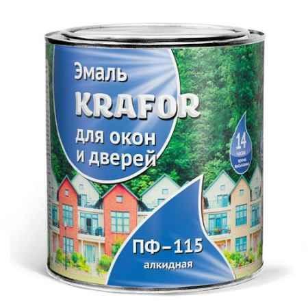 Купить Эмаль ПФ-115 для окон и дверей 0.9 кг., белая Krafor (Крафор)