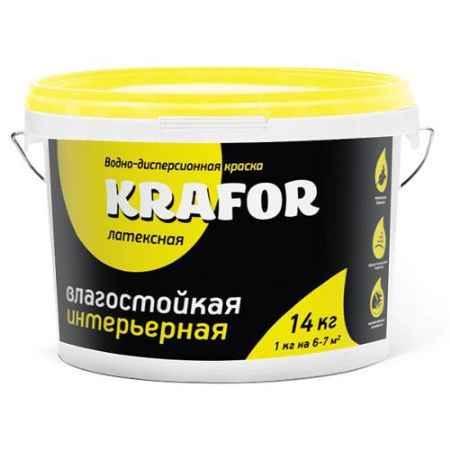 Купить Краска водно-дисперсионная латексная интерьерная влагостойкая 14 кг. Krafor (Крафор)