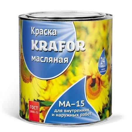 Купить Краска МА-15 0.9 кг., желто-коричневая Krafor (Крафор)