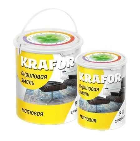 Купить Эмаль акриловая матовая 1 кг., супербелая Krafor (Крафор)