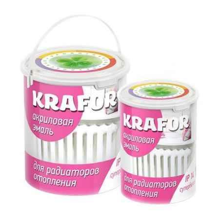Купить Эмаль акриловая для радиаторов 1 кг., супербелая Krafor (Крафор)