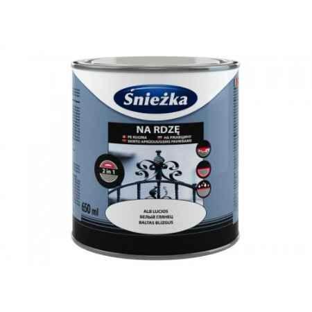 Купить Грунт-эмаль по ржавчине 3в1 молотковый эффект 0.65 л.,красно-коричневый Sniezka (Снежка)