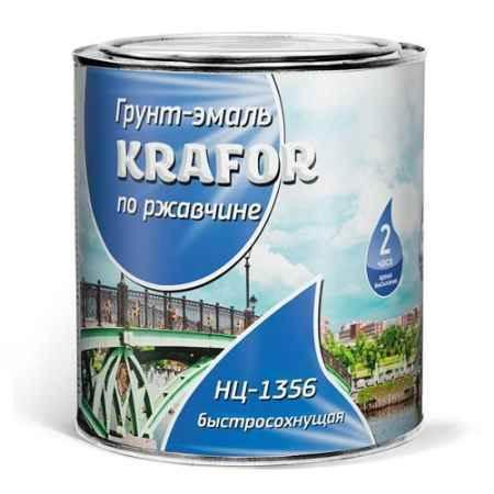 Купить Эмаль по ржавчине НЦ 1.7 кг., красная Krafor (Крафор)
