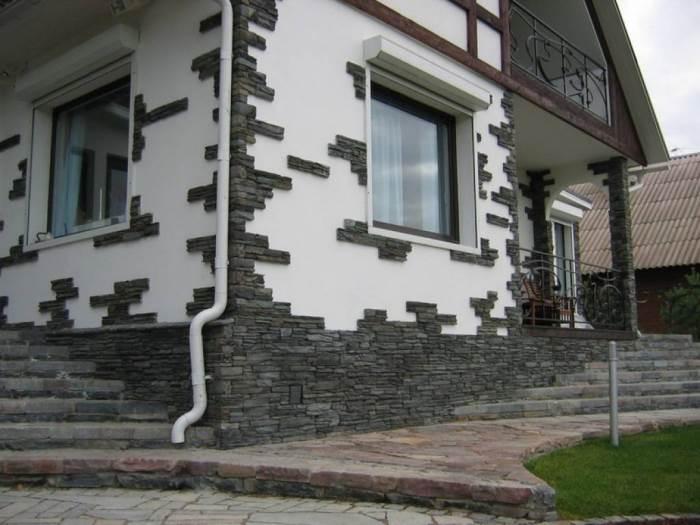 Штукатурка фасад дома из газобетона