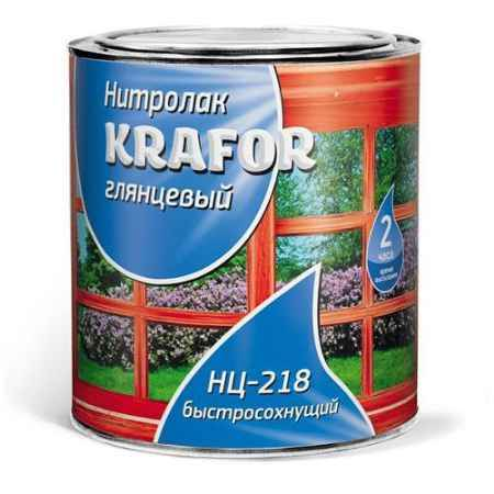 Купить Лак НЦ-218 0.7 кг. Krafor (Крафор)