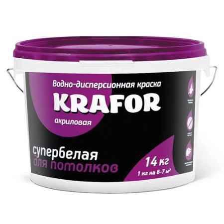 Купить Краска водно-дисперсионная для потолков 6.5 кг.., супербелая Krafor (Крафор)