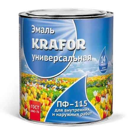 Купить Эмаль ПФ-115 6 кг., зеленая яркая Krafor (Крафор)