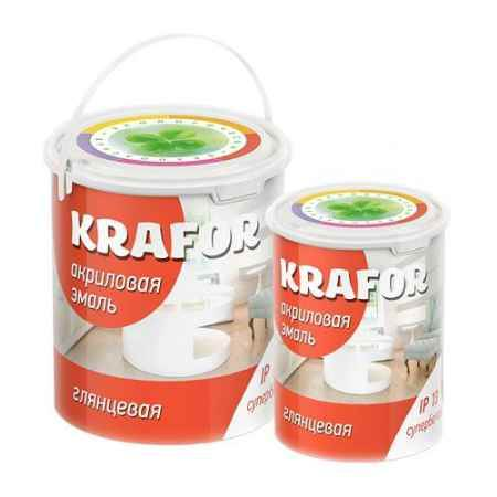 Купить Эмаль акриловая глянцевая 3 кг., супербелая Krafor (Крафор)
