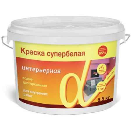 Купить Краска водно-дисперсионная интерьерная Альфа, супербелая, 40 кг. Krafor (Крафор)