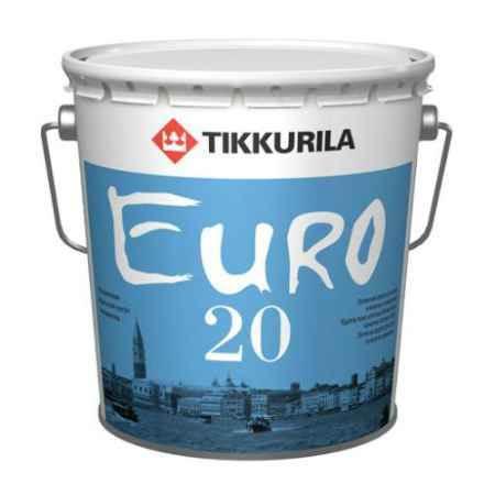 Купить Краска латексная Euro (Евро)-20, База С, 9 л, белый Tikkurila (Тиккурила)
