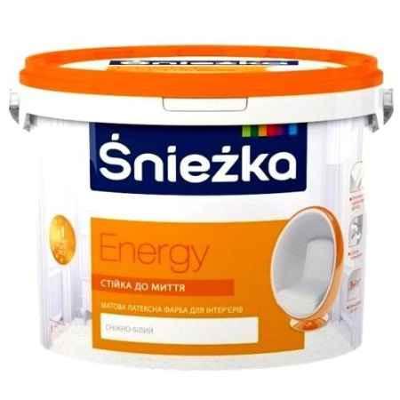 Купить Краска латексная для стен и потолков Energy 2.5 л., Sniezka (Снежка)