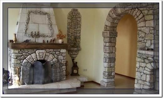 Материалы для декорирования каминов