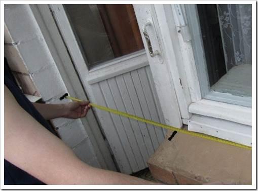 Как правильно замерить балконный блок? самостоятельный замер.