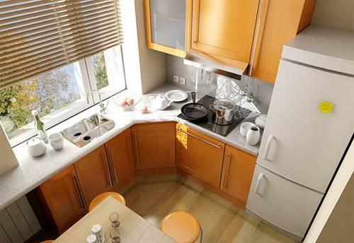 Как сделать ремонт кухни в хрущевке
