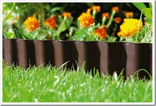 Металлический бордюр для сада