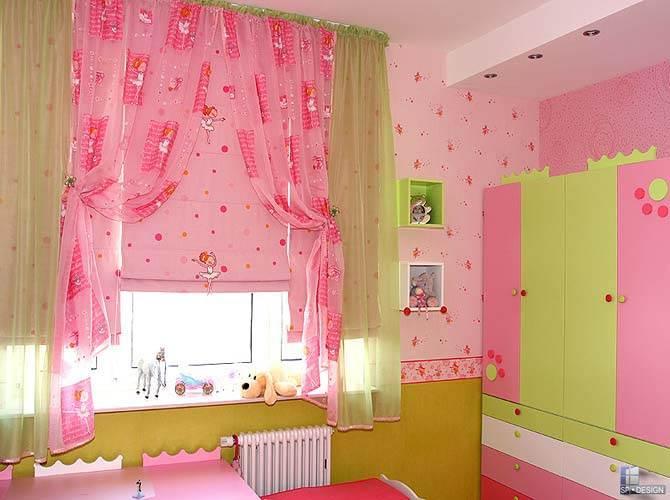 Преимущества штор для детской комнаты на заказ