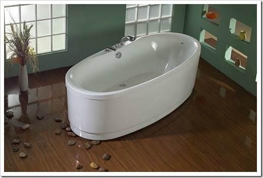 Акриловые ванны: нюансы приобретения и монтажа