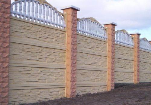 Как сделать забор из бетонных панелей
