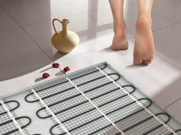 Как сделать электрический теплый пол под плитку