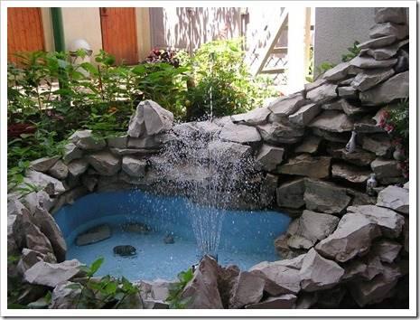 Монтаж насосной системы фонтана