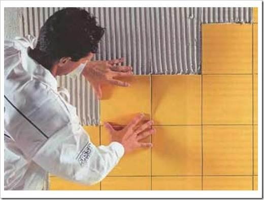 Керамическая плитка укладка своими руками на стены