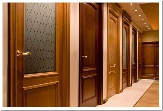 Использование натурального шпона в отделке межкомнатных дверей