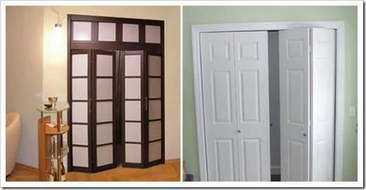 Складывающиеся двери межкомнатные
