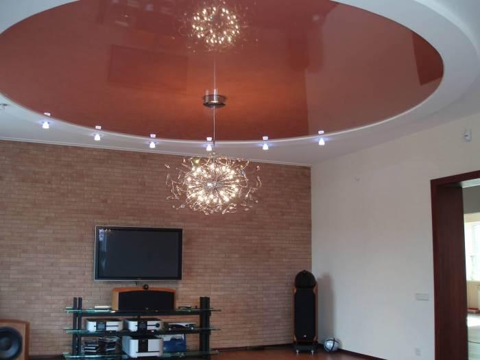 Пленочный натяжной потолок