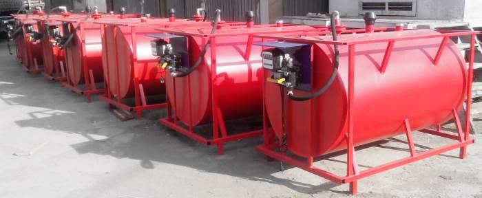 Монтаж емкости для дизельного топлива