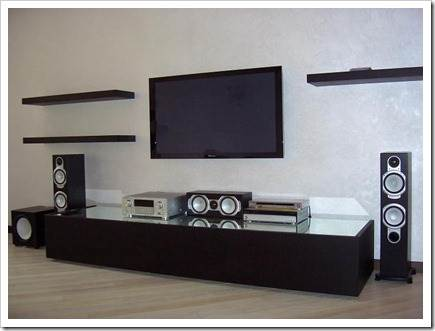 фото телевизор на стене как спрятать провода