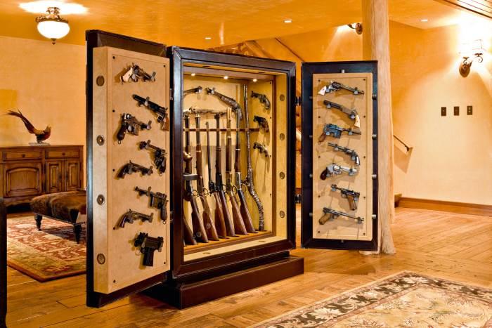 Как установить сейф для оружия